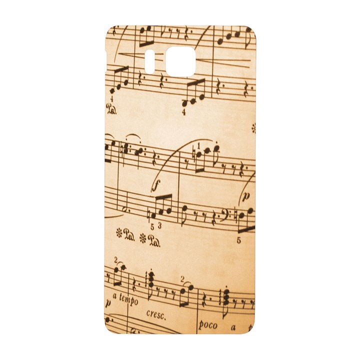 Music Notes Background Samsung Galaxy Alpha Hardshell Back Case