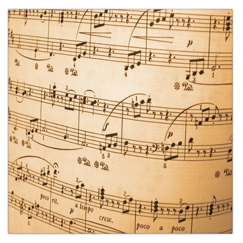 Music Notes Background Large Satin Scarf (Square)