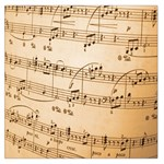 Music Notes Background Large Satin Scarf (Square) Front