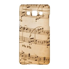 Music Notes Background Samsung Galaxy A5 Hardshell Case
