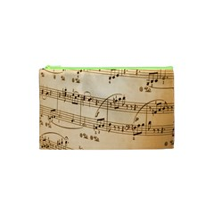 Music Notes Background Cosmetic Bag (XS)