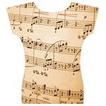 Music Notes Background Women s V-Neck Cap Sleeve Top Back