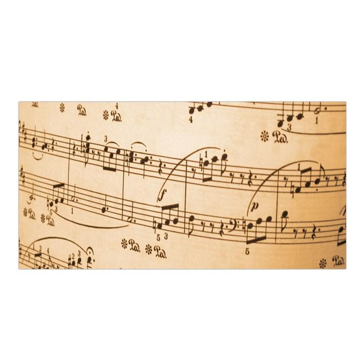 Music Notes Background Satin Shawl