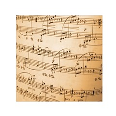 Music Notes Background Small Satin Scarf (Square)