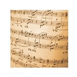 Music Notes Background Small Satin Scarf (Square) Front