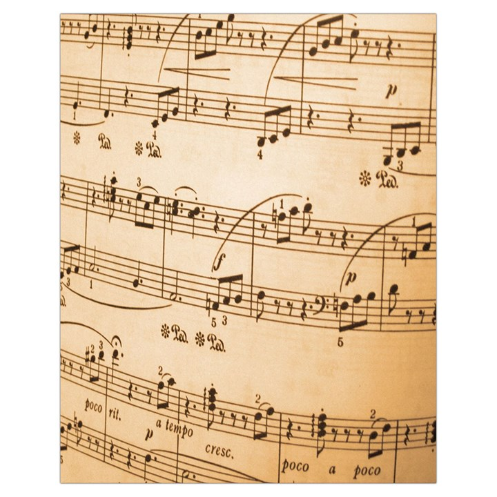 Music Notes Background Drawstring Bag (Small)