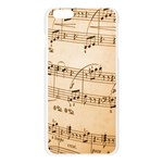 Music Notes Background Apple Seamless iPhone 6 Plus/6S Plus Case (Transparent) Front