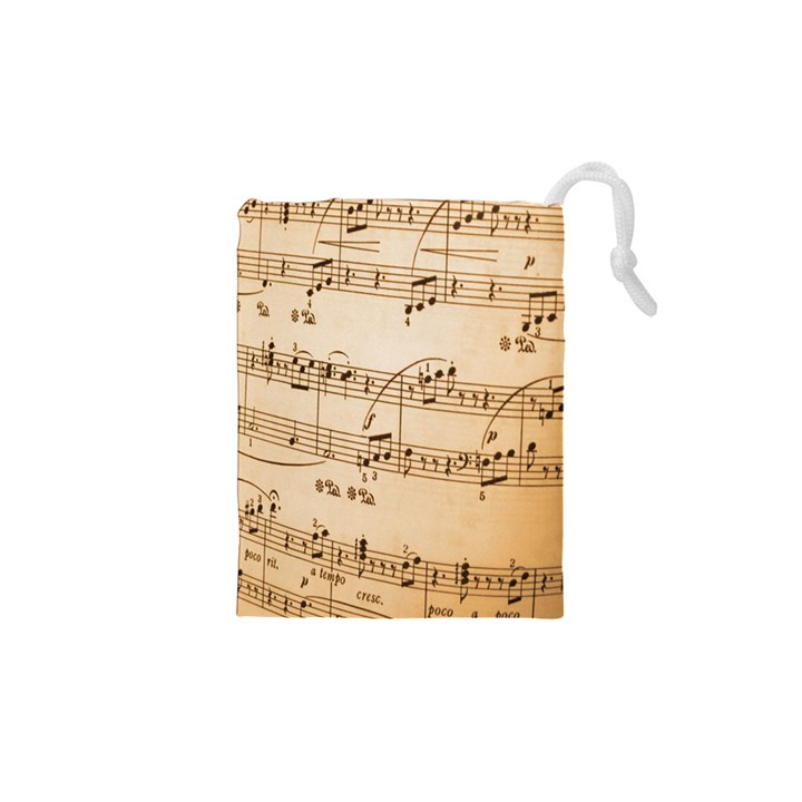 Music Notes Background Drawstring Pouches (XS)