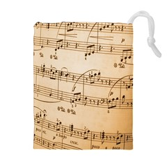 Music Notes Background Drawstring Pouches (Extra Large)