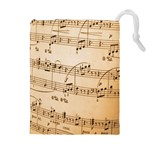 Music Notes Background Drawstring Pouches (Extra Large) Front