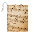 Music Notes Background Drawstring Pouches (Extra Large) Back
