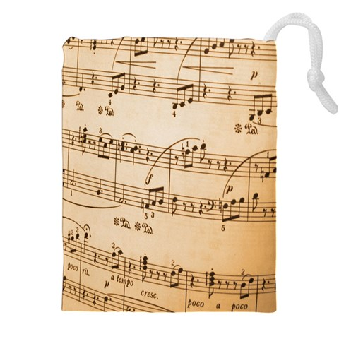 Music Notes Background Drawstring Pouches (XXL)