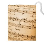Music Notes Background Drawstring Pouches (XXL) Front