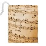 Music Notes Background Drawstring Pouches (XXL) Back