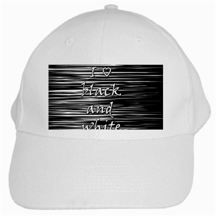 I love black and white White Cap