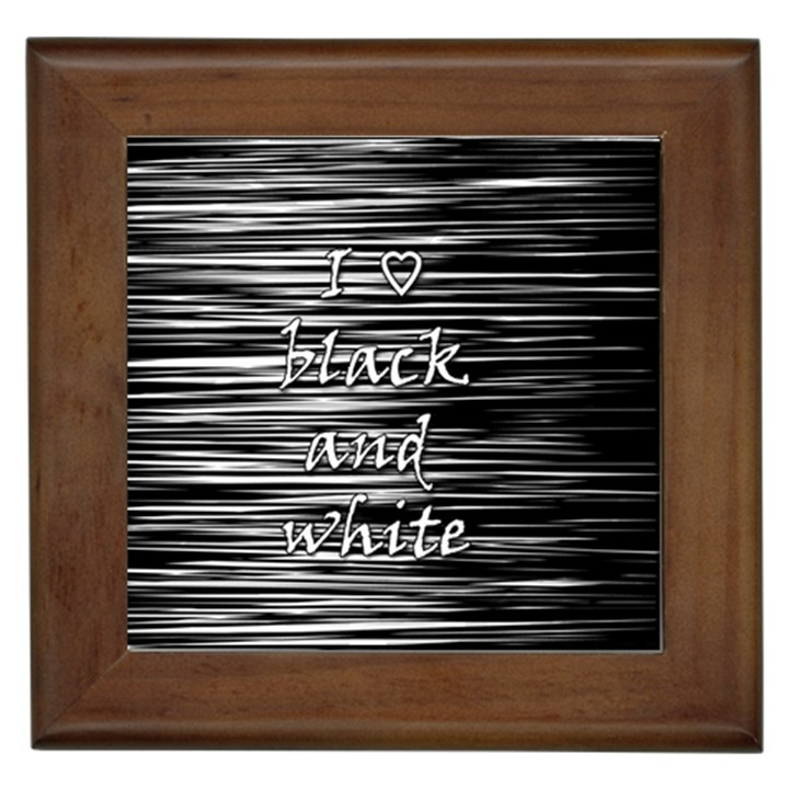 I love black and white Framed Tiles