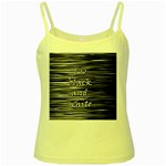 I love black and white Yellow Spaghetti Tank Front