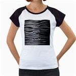 I love black and white Women s Cap Sleeve T Front