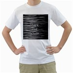 I love black and white Men s T-Shirt (White) (Two Sided) Front