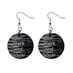 I love black and white Mini Button Earrings Front