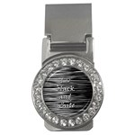 I love black and white Money Clips (CZ)  Front