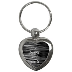 I love black and white Key Chains (Heart)