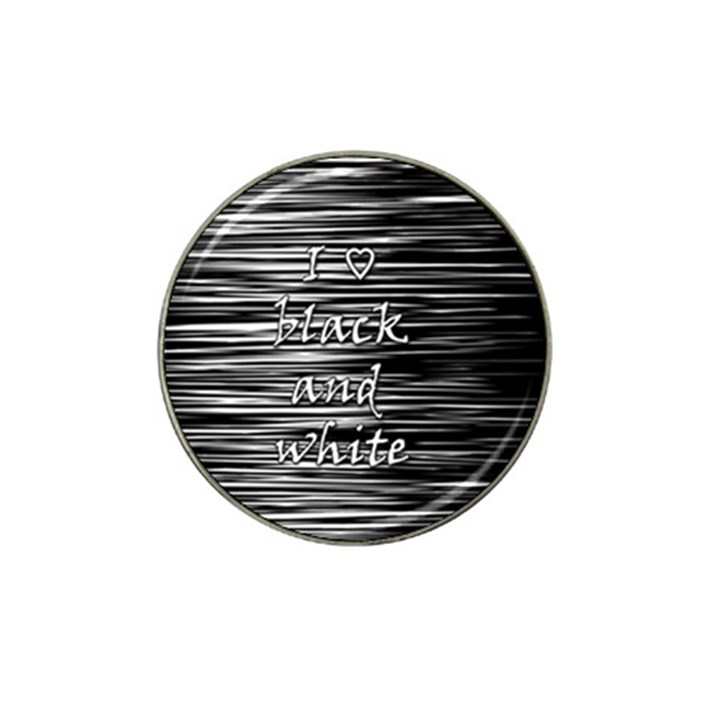 I love black and white Hat Clip Ball Marker (4 pack)