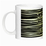 I love black and white Night Luminous Mugs Left