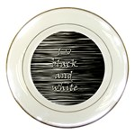 I love black and white Porcelain Plates Front