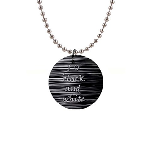 I love black and white Button Necklaces