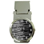 I love black and white Money Clip Watches Front