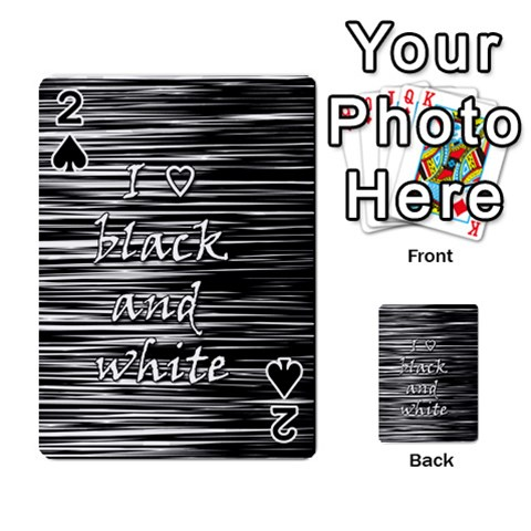 I love black and white Playing Cards 54 Designs