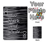 I love black and white Playing Cards 54 Designs  Front - SpadeQ