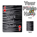 I love black and white Playing Cards 54 Designs  Front - Heart4