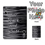 I love black and white Playing Cards 54 Designs  Front - Spade4