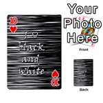 I love black and white Playing Cards 54 Designs  Front - Heart10