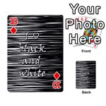 I love black and white Playing Cards 54 Designs  Front - Diamond10