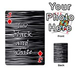 I love black and white Playing Cards 54 Designs  Front - DiamondJ
