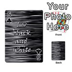 I love black and white Playing Cards 54 Designs  Front - Club5