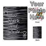I love black and white Playing Cards 54 Designs  Front - ClubA