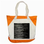 I love black and white Accent Tote Bag Front