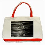 I love black and white Classic Tote Bag (Red) Front