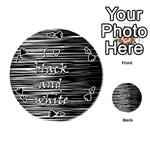 I love black and white Playing Cards 54 (Round)  Front - Spade4