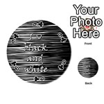 I love black and white Playing Cards 54 (Round)  Front - Club9