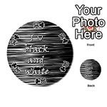 I love black and white Playing Cards 54 (Round)  Front - Club10