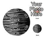 I love black and white Playing Cards 54 (Round)  Front - ClubQ