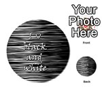 I love black and white Playing Cards 54 (Round)  Back