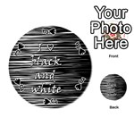 I love black and white Playing Cards 54 (Round)  Front - SpadeJ