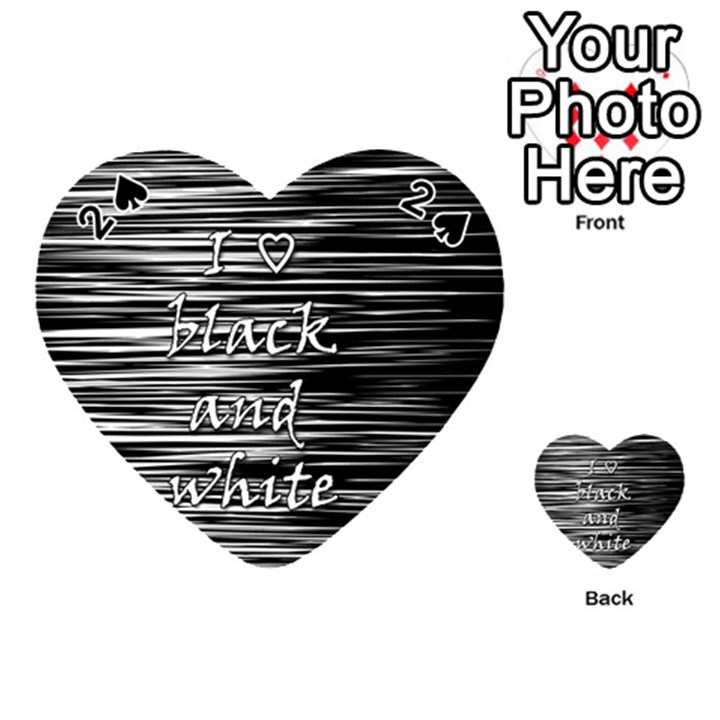 I love black and white Playing Cards 54 (Heart)