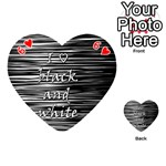 I love black and white Playing Cards 54 (Heart)  Front - Heart6